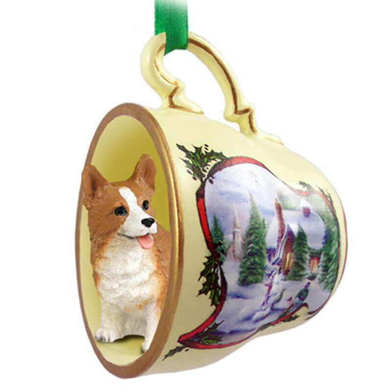 Corgi Christmas Teacup Ornament Pembroke