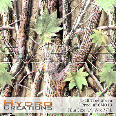 Hydrographic Film For Hydro Dipping Water Transfer Film Fall Tree Camo Green