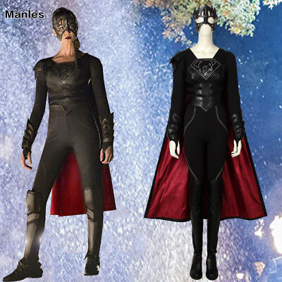 Supergirl Season 3 Costume Reign Samantha Arias Cosplay Outfits Christmas Suits](Reign Halloween Costumes)