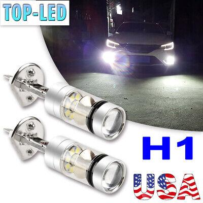 H1 6000K White Super Bright LED Fog Driving Lights Bulbs Headlight Kit DRL Lamps