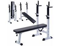 Heavy duty bench press! Cheap. With EZ bar +weights !!! Only today