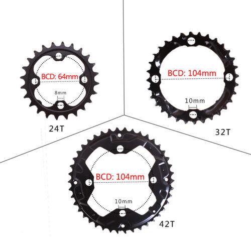 US IXF 3X10 Speed CNC MTB Bike Crankset BB 170mm Crank 104//64BCD Chainring
