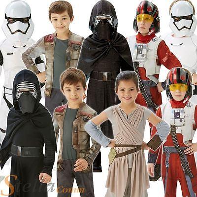 Kids Star Wars Costumes Force Awakens Halloween Fancy Dress Boys Girls Child