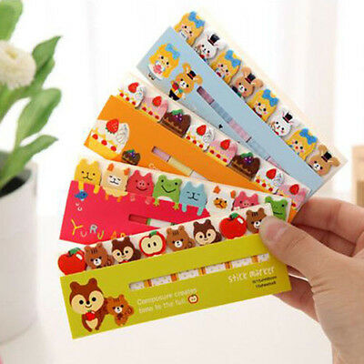 120Pages Cute Animal Sticker Post-It Bookmark Marker Memo Index Tab Sticky Notes