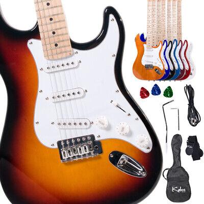 "Kalos 39"" Full Size Electric Guitar ~Sunburst Black Blue Purple Red +Lesson Book"