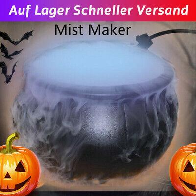Halloween Hexentopf Zerstäuber Rauchmaschine LED Party Prop Streich Spielzeug DE