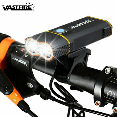 Mountain Bike USB Rechargeable Waterproof Led Light Headlight Taillight M5BD
