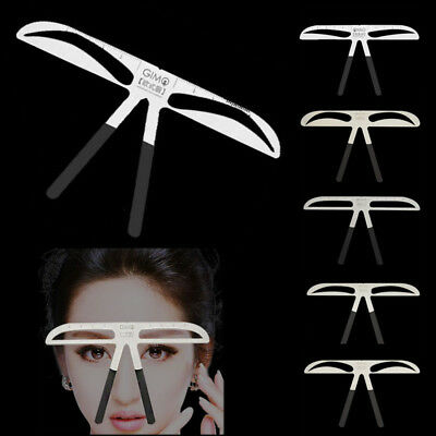 Easy To Use Eyebrow Shaper Stencil Eye Brow Template Kit Cosmetic Tool Permanent (Stencil Kit)