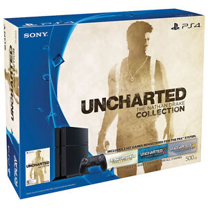 SEALED IN BOX Sony PlayStation 4 500GB UNCHARTED: The Nathan Dra