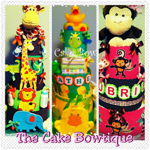Deluxe Diaper Cake Personalized With baby's Name
