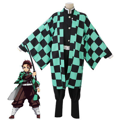 Demon Slayer Kimetsu no Yaiba Kamado Tanjirou Full Costume for Halloween