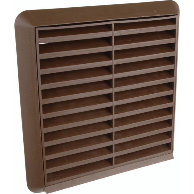 NEW Round Ducting Louvred Grille 154 x 154mm Brown Each