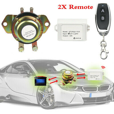 Car Manual+Remote Control Battery Switch Disconnect Anti-theft Power Master Kill