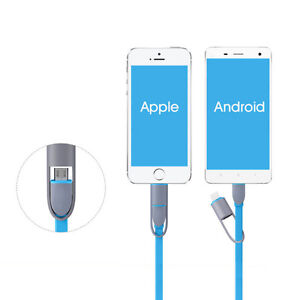 iPhone & Android Universal USB Charger 2 in 1 8 Pin+Micro
