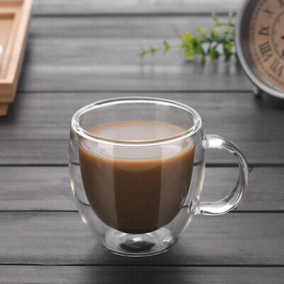 150ml Double Wall Glass Coffee Tea Cup Heat resistant Double Layer Glass set