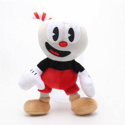 10 Inch Cuphead /& Mugman Plush Kids Toy Mecup And Brocup Stuffed Game Doll Blue