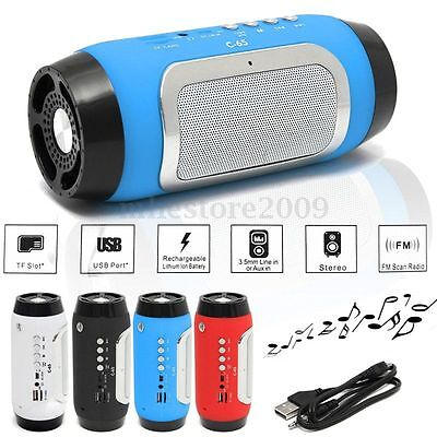 LED Wireless Bluetooth Speaker Waterproof Bass MP3 FM Outdoor Stereo Loudspeaker