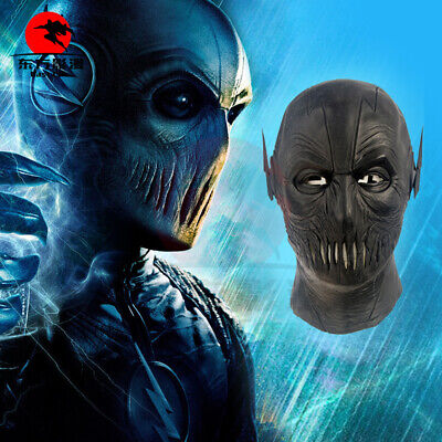 Cheap Full Face Halloween Masks (Halloween Mask The Flash 2 Mask Zoom Mask Cosplay Latex Full Face Mask)