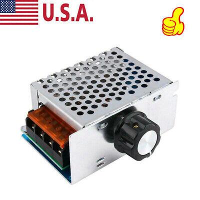 4000w 220v Ac Scr Voltage Regulator Dimmer Electric Motor Speed Controller Tool