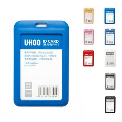 - New ID Badge Holder Lanyard Credit Card Case Plastic Card Cover Card Protector