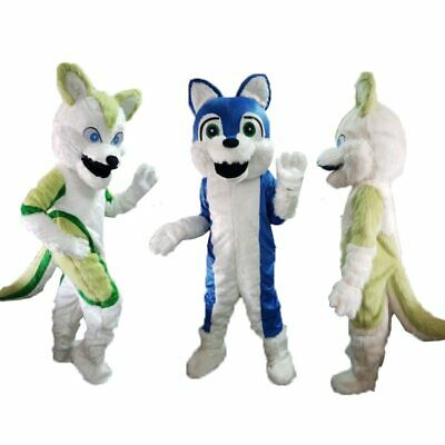 Halloween Husky Dog Wolf Fox Mascot Costume Cosplay Mascotte Party Game Adults - Dog Halloween Costumes Wolf