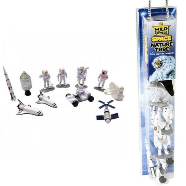 Wild Republic Space Figures Tube, Outer Space Toys, Space Shuttle, Astronaut, Space Station, etc