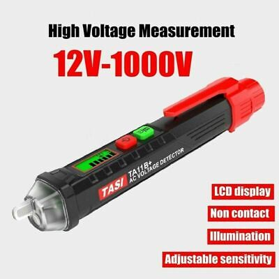 Lcd Ac Voltage 12-1000v Pencil Tester Non-contact Pen Electric Detector Test Usa