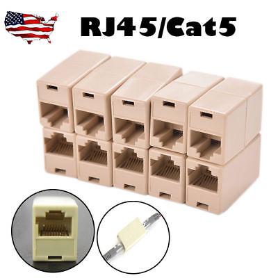 - 10PC RJ45 Ethernet Network LAN Cat5e Cat6 Cable Joiner Adapter Coupler Extender