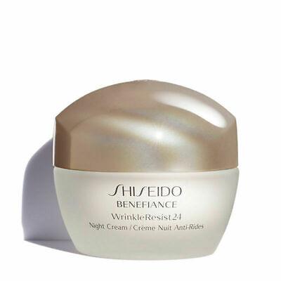 New Shiseido Benefiance WrinkleResist 24 Night Cream 1.7 oz NIB, Sealed Jar