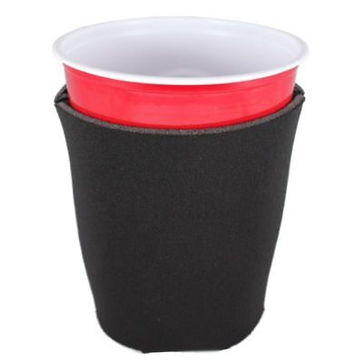 Blank Foam Collapsible Bottom Solo/Party Cup Coolie; Choice of color, quantity
