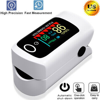 Fingertip Pulse Oximeter Blood Oxygen Spo2 Monitor Heart Rate Home Meter Tester