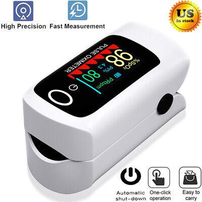 Fingertip Pulse Oximeter Blood Oxygen Spo2 Monitor Heart Rate Home Meter Tester