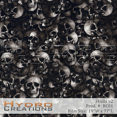 Hydrographic Film For Hydro Dipping Water Transfer Film Skulls V2
