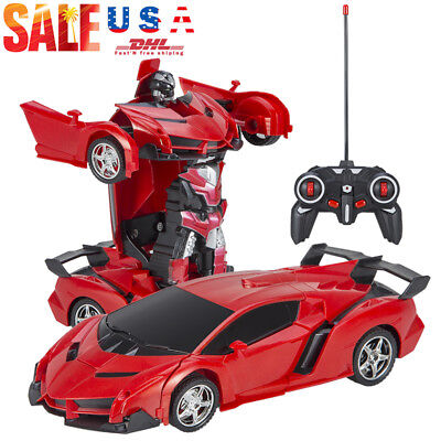 Toys for Kids COOL Transformer RC Robot Car Remote Control LED Lights Xmas Gift (Transformers For Kids)
