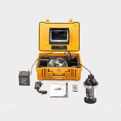 """65ft 7"""" LCD Underwater Video Fishing Camera System With Motorized 0~360 View"""