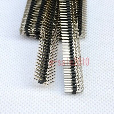 10pcs Rohs 2x40 2.0mm Pin Header Double Row Right Angle For Dip Pcb Board G33