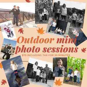 Outdoor Fall Mini Photography Sessions London Ontario image 1