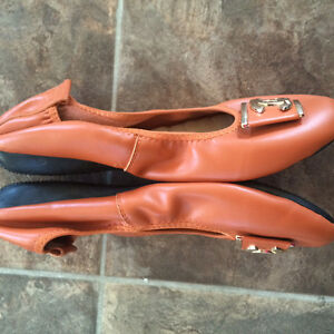 Orange leather CC ballet flats Cornwall Ontario image 6
