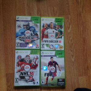 4 Xbox 360 sports games