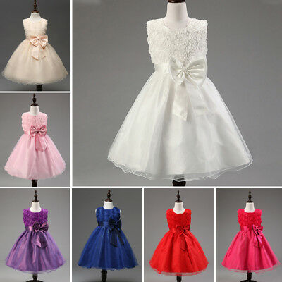US Stock Baby Girls Weeding Dress Party Clothes Princess  Costume Formal Pageant](Girls Princess Party)