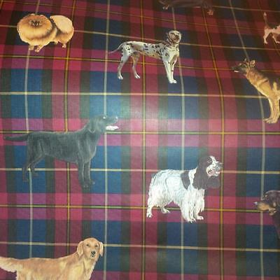 BREEDS OF DOGS ON PLAID WALLPAPER-1 DOUBLE ROLL