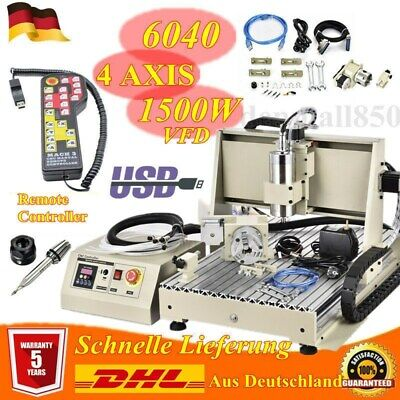 4 Axis Cnc 6040z Engraving Milling Machine Engraver Cutter Usb Router Drill Rc