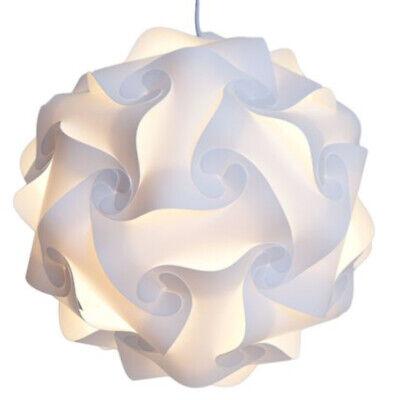 30pcs White IQ Light Lamp Shade Modern Decor Home Puzzle Jig
