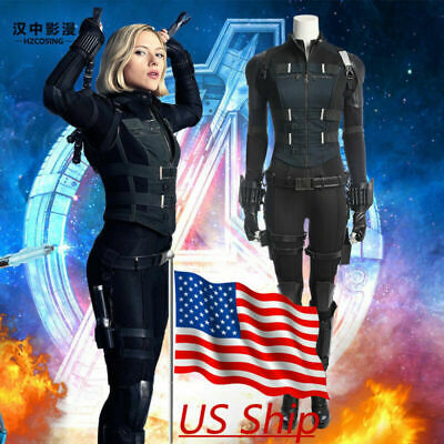 Avengers Womens Costumes (2019 Avengers 4 Black Widow Costume Natasha Romanoff Superhero Women Full)