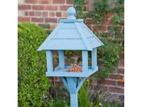 Blue Wooden Bird Table (Brand New & Boxed, Not Used)