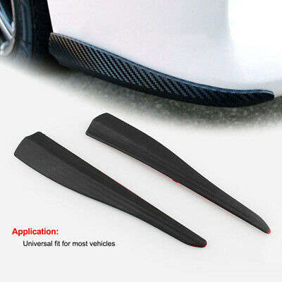 Universal Carbon Fiber Look Car Bumper Door Edge Anti Scratch Crash Strips Cover