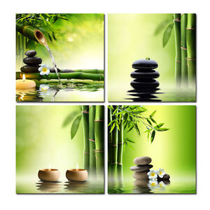 Canvas Print Painting Pictures Home Decor Wall Art Green Bamboo Zen Poster Photo
