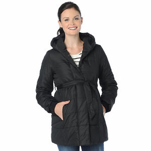 Motherhood Maternity Puffer Coat Like New In Black - Size Lg London Ontario image 1