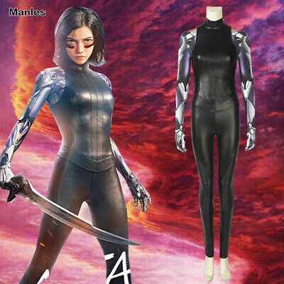 Alita Battle Angel Cosplay Alita Costume Fancy Dress Halloween 3D Printed Outfit (3d Printed Halloween Costume)