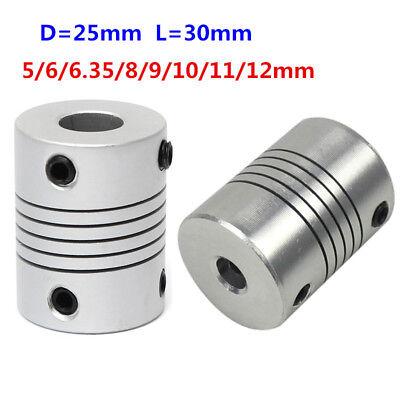 566.35891012mm Flexible Shaft Coupling Cnc Motor Coupler Connector D25l30